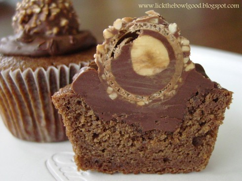 Nutella Ferrero Rocher Cupcake delicia chocolate want