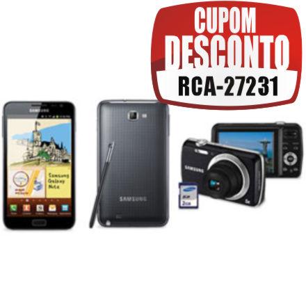 Cupom Efácil: Galaxy Note + Câmera Digital Samsung