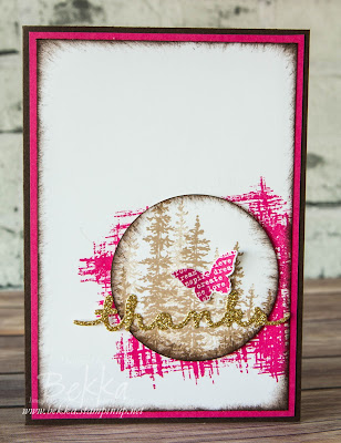 Wonderland Thank You Card - See how versatile this stamp set from Stampin' Up! UK is