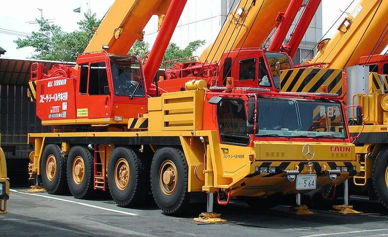 Rough Terrain Crane Wikipedia : Tadano ar m all terrain crane ton cranepedia