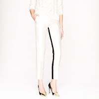 J. Crew Collection Cafe Capri in Reverse Tuxedo