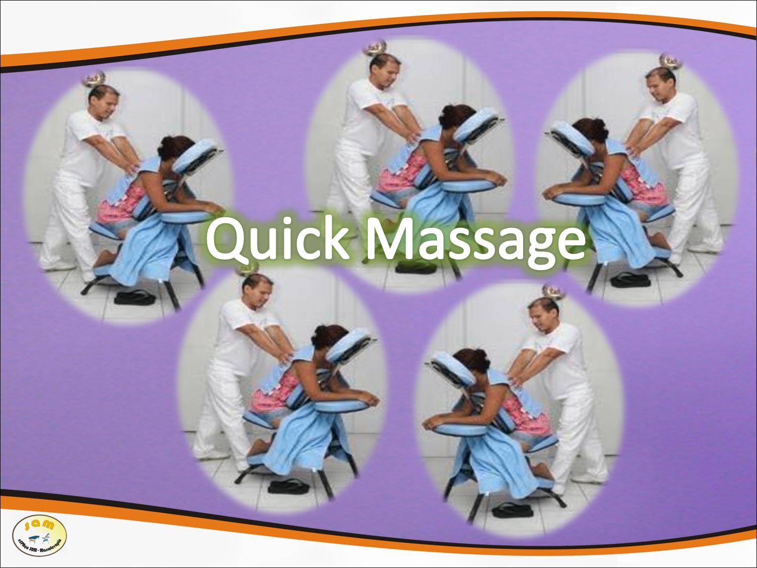 Conheça a Quick massage