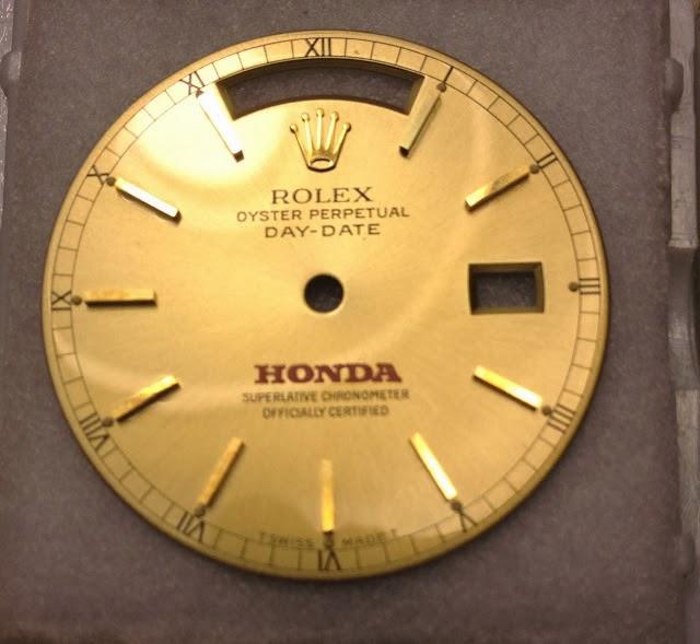 Honda logo Rolex dial