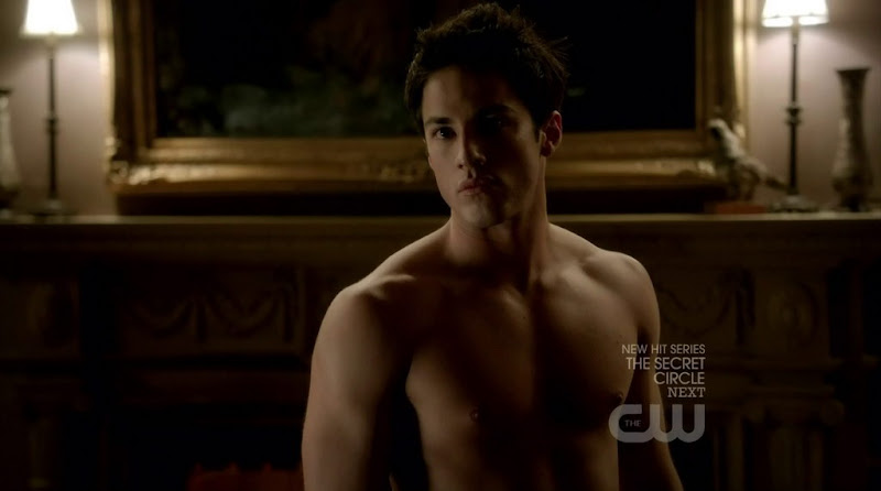Michael Trevino Shirtless in The Vampire Diaries s3e06
