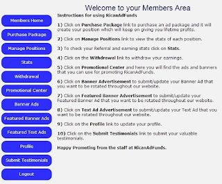 Member Area RicanAdFunds.com