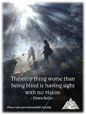 The only thing worse than being blind is having sight with no vision. - Helen Keller