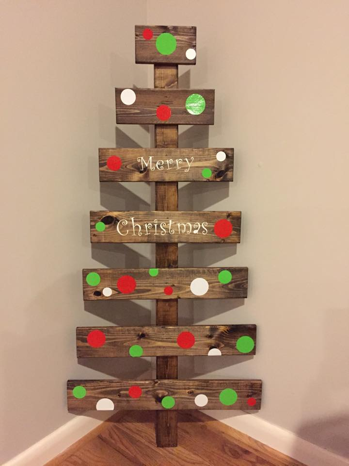 Mommy Time DIY: DIY Wooden Christmas Trees