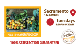 Sign Up for Organic Local Produce in Sacramento!