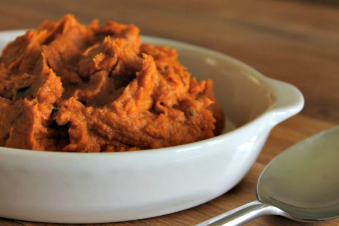 Roasted Sweet Potato and Garlic Mash