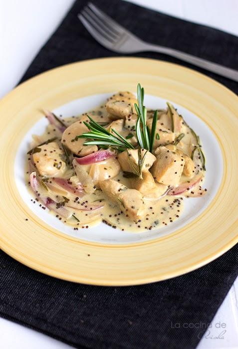 Pollo A La Salsa De Mostaza Y Romero