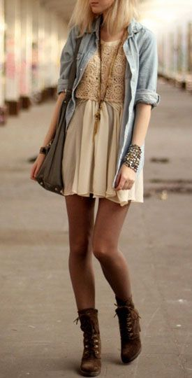 Perfect Boho Chic Style Dress Cover Up and Accessories Look