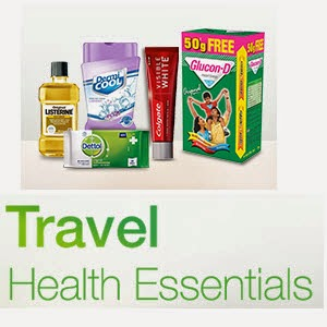 Amazon : Travel Health Essentials upto 36% off from at Rs.27 : Buy To Earn