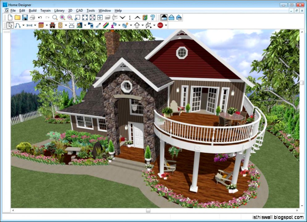 Free 3d home design this wallpapers for Home garden design program