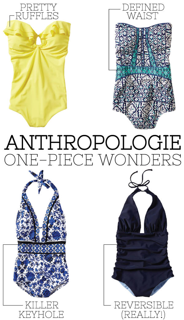 anthropologie one-piece wonders.