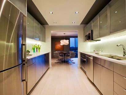 desain dapur cantik double line