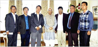 Governor Kesharinath Tripathi and gta chief bimal gurung roshan giri in Darjeeling