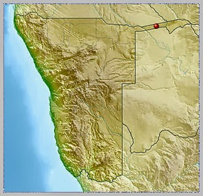 Location of Bwabwata National Park where the plane is said to have crashed