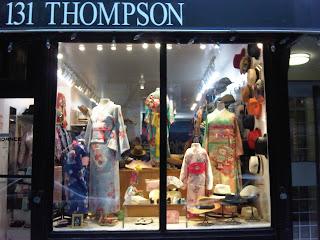 Kimono House storefront at 131 Thompson Street New York 10012