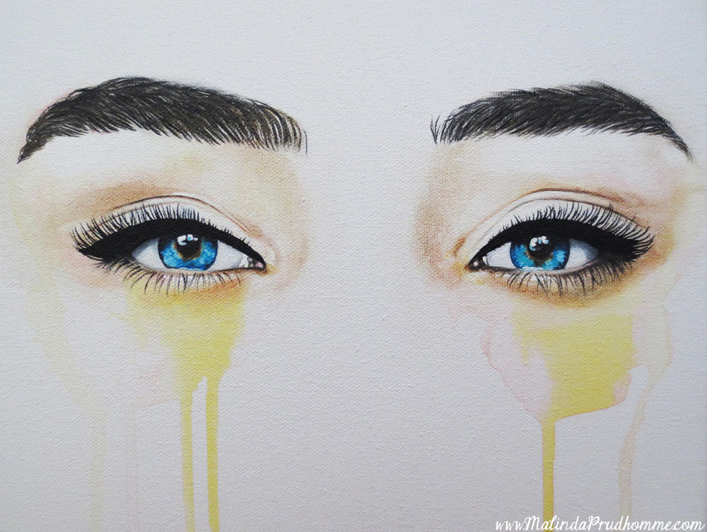 How To Paint Eyebrows In Acrylic Paint