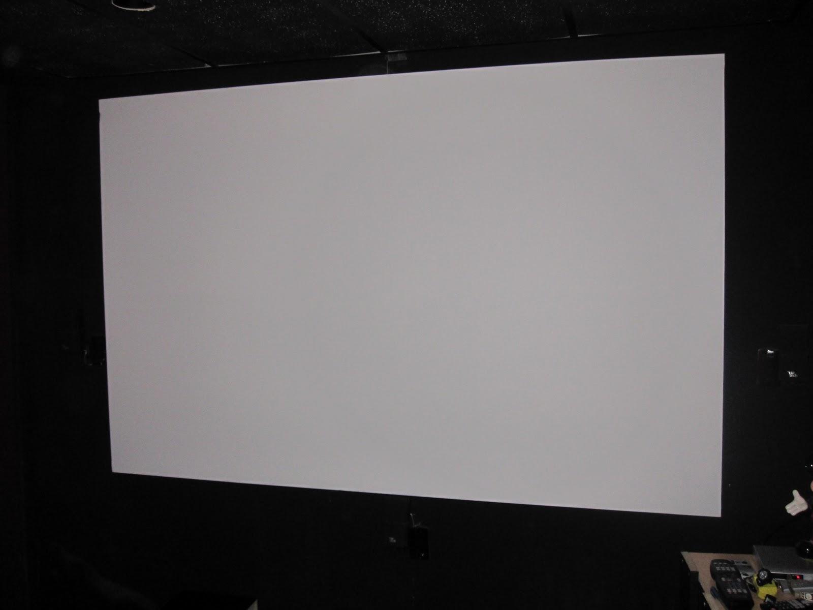El cine en casa lima diciembre 2011 for Pantalla para proyector