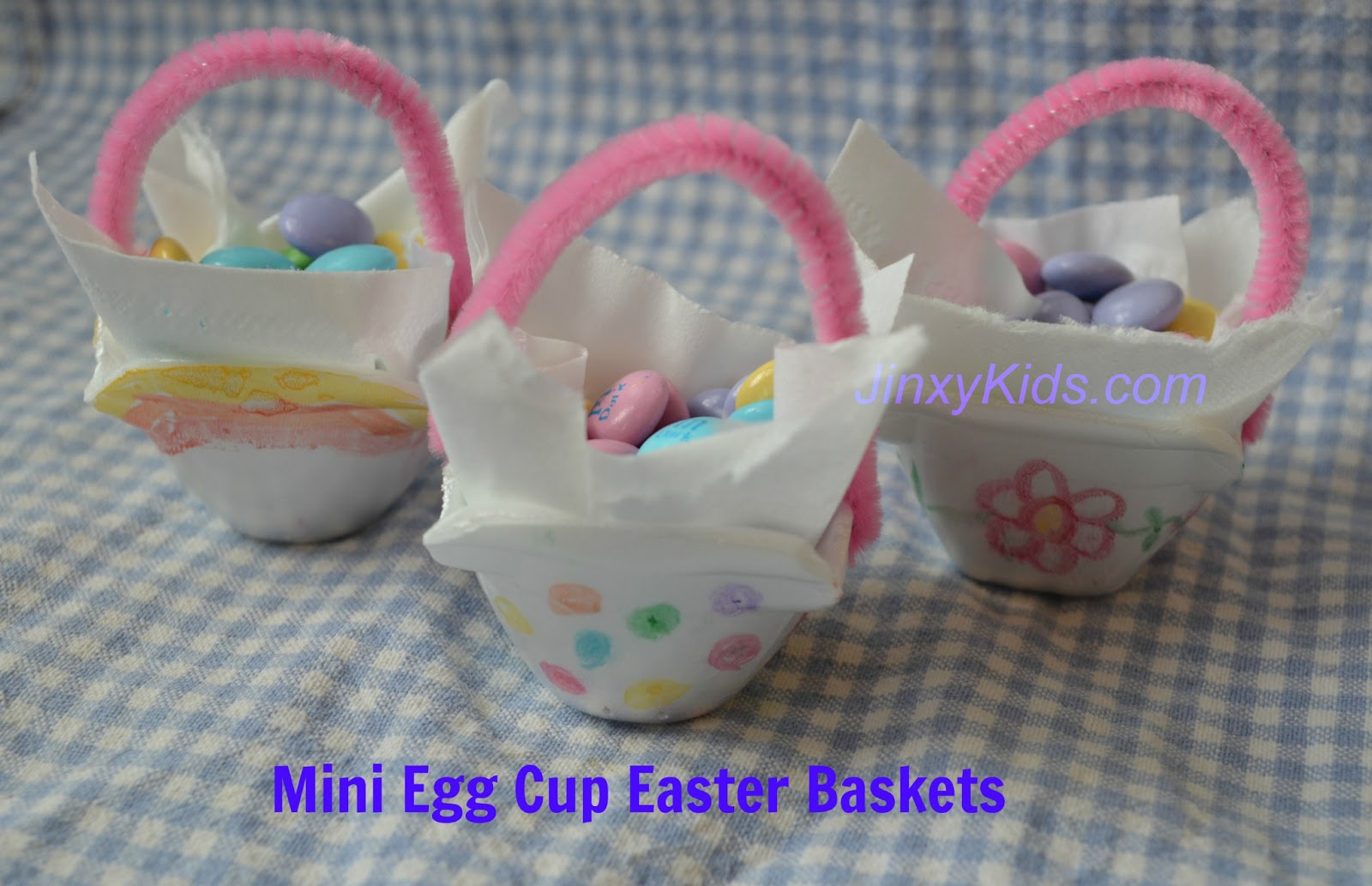 Mini Egg Cup Easter Baskets Craft Project