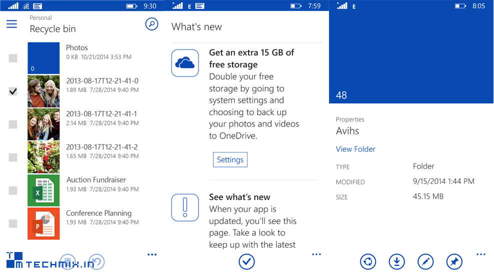 onedrive screenshot windows phone techmix