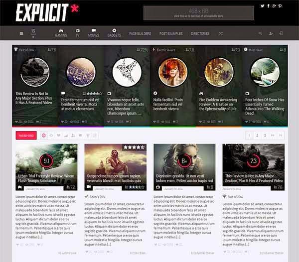 Explicit - High Performance Review/Magazine Theme