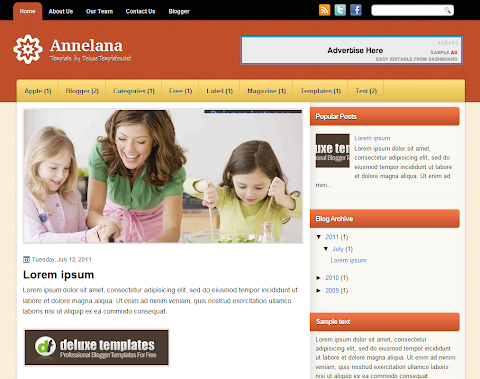 Annelana Blogger Theme