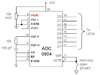 ADC0804 Chip Free Running Mode