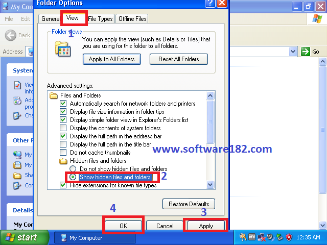 Cara Menampilkan File & Folder Tersembunyi di Windows XP