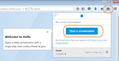 Firefox இணைய உலாவியில் Firefox Hello