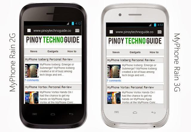 MyPhone Rain 3G and 2G