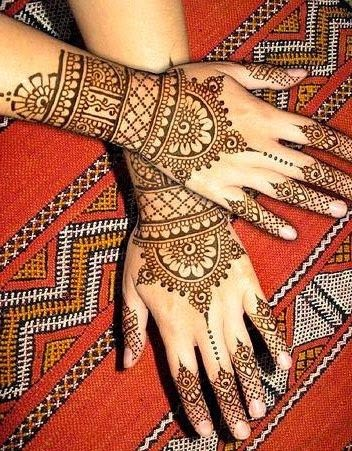 mehndi bridal tattoos on hands