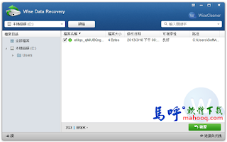 檔案救援軟體免安裝 Wise Data Recovery Portable 中文版下載
