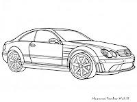 Gambar Mobil Mercedes CLK Class Untuk Diwarnai