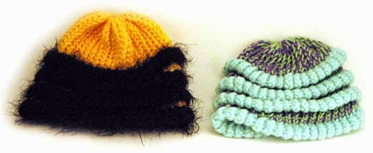 http://kniftyknitterweekly.blogspot.com/2014/04/bee-hat.html