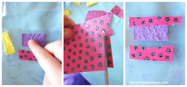 cutting practice, cutting activity, collage, kids activity, craft activity