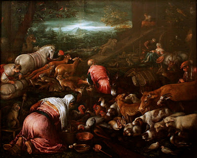 Animals boarding the Noah's Ark (Jacopo Bassano workshop)
