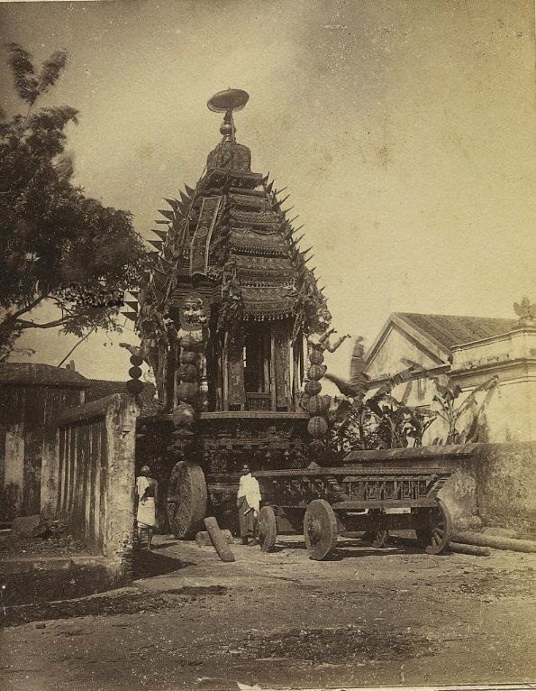Wooden Ornate Chariot of Lord Jagannath - c1870's