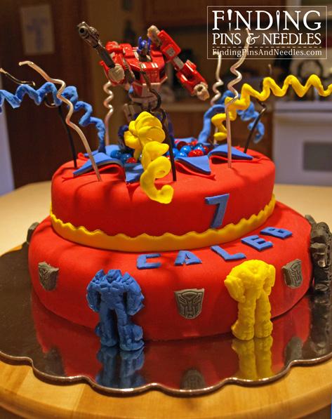 Birthday cake optimus prime