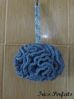Esponja de Banho de crochê