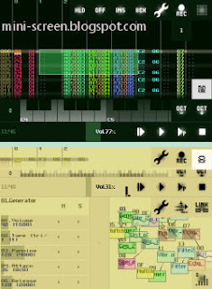 SunVox Music Creator and Composer App Interface on iPhone