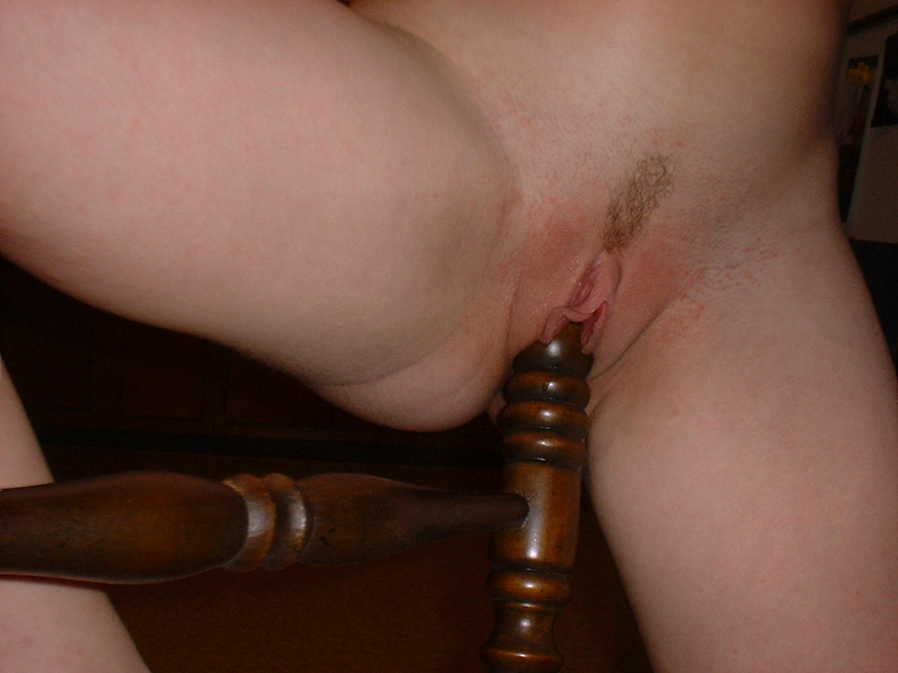 girl fucking the bedpost