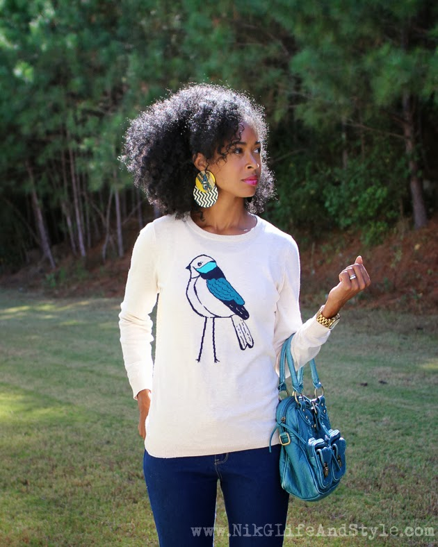 Old Navy Bird Sweater Natural Hair BGKI