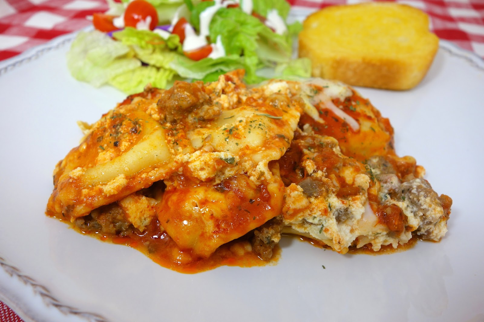 Do-Ahead Ravioli Sausage Lasagna Recipe — Dishmaps