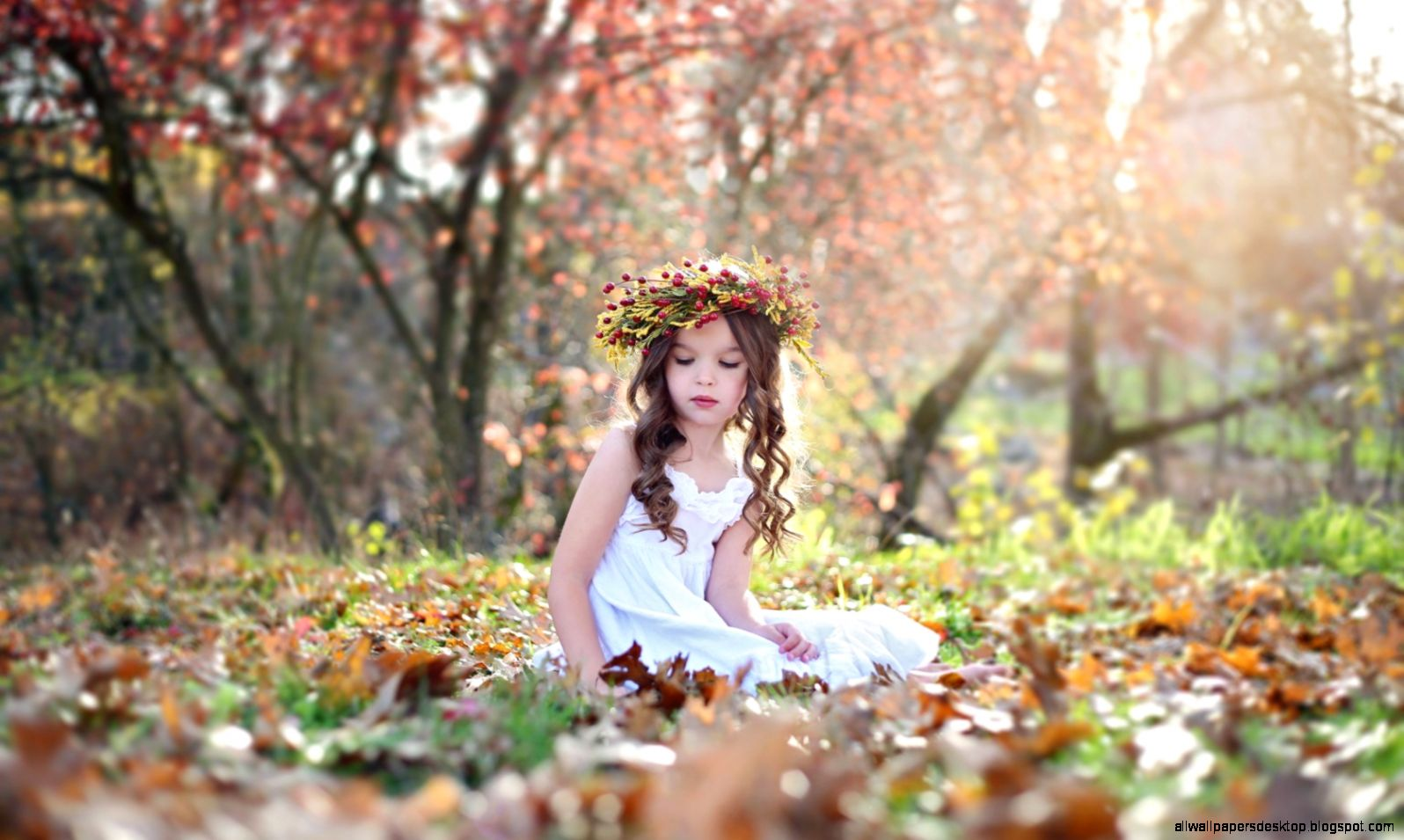 lovely girl child autumn hd wallpaper