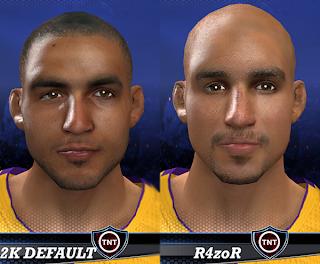 NBA 2K14 Robert Sacre Cyberface Mod