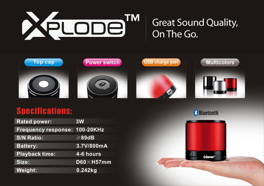 Xplode portable speaker xplode bluetooth portable speaker