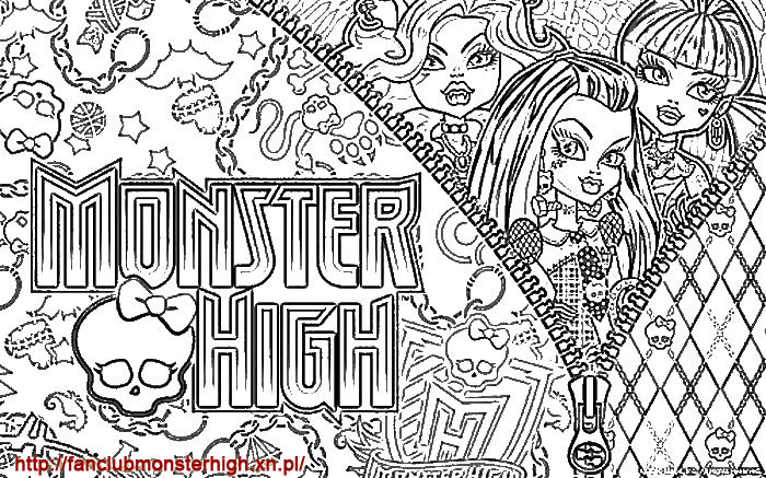 Kolorowanki Monster High