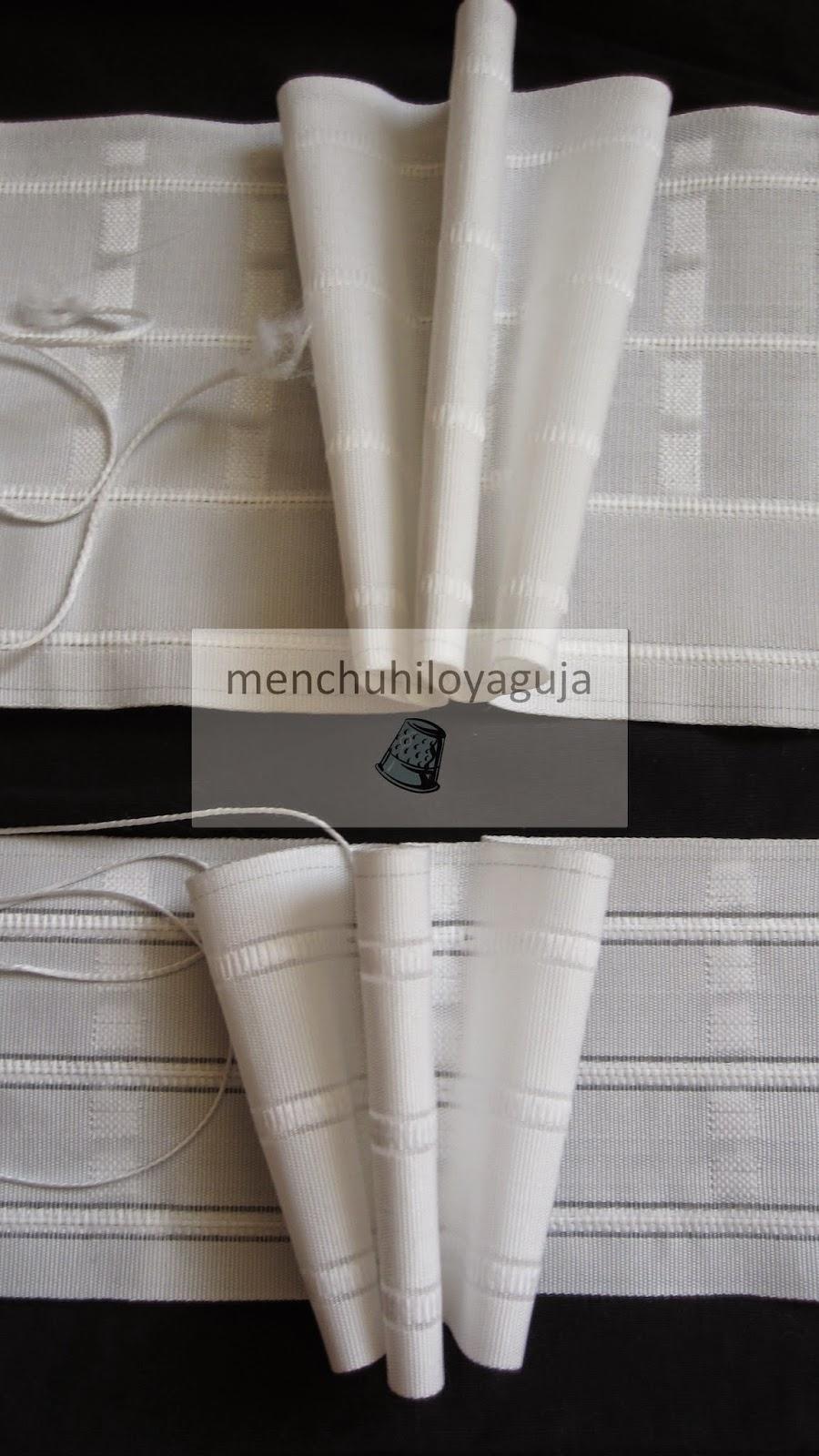 Patrones de costura cabecillas de cintas para cortinas - Hacer cortina ...